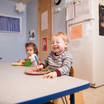 children eat lunch at Community Child Care Center