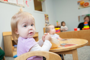 infants and toddlers play at Community Child Care Center