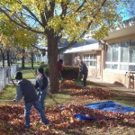 fall clean up at Community Child Care Center