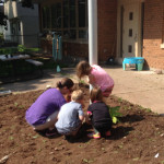 garden work during Community Child Care Center Summer Programs