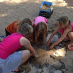sand play in Community Child Care Center School Aged Programs