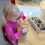 child learns about science at Community Child Care Center