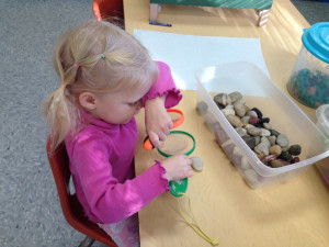 hands-on science as part of the Creative Curriculum at Community Child Care Center