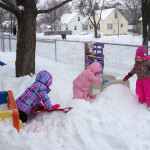 snow play at Community Child Care Center